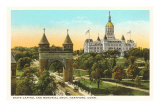 State Capitol, Memorial Arch, Hartford, Connecticut Posters