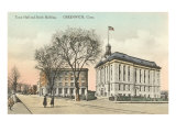Town Hall and Smith Building, Greenwich, Connecticut Poster