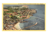 Aerial View of Monterey Bay, California Poster
