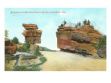 Steamboat Rock and Balanced Rock, Colorado Posters