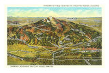 Panorama of Pike's Peak Region, Colorado Posters