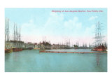 Harbor at San Pedro, California Posters
