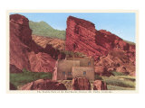 Pueblo Park of the Red Rocks, Denver, Colorado Poster