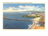 Municipal Auditorium and Pier, Long Beach, California Posters