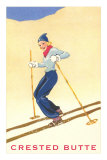 Lady Skier at Crested Butte, Colorado Posters