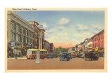 Main Street, Danbury, Connecticut Kunstdruck