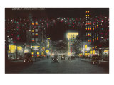 Champa Street at Night, Denver, Colorado Print