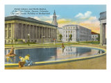 Library and Civic Center, Denver, Colorado Poster