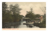 Chalkers Mill Stream, Saybrook, Connecticut Poster