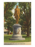 Nathan Hale Statue. New London, Connecticut Posters