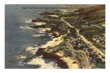 Coast Highway, Laguna Beach, California Print