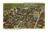 Aerial View of Denver, Colorado Posters