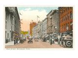 Bank Street, Waterbury, Connecticut Kunstdruck