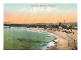 The Beach at Monterey, California Posters