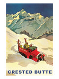 Truck Hauling Skiers, Crested Butte, Colorado Posters