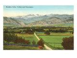 Boulder, Colorado, valle e montagne Poster