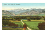 Boulder, Colorado, Valley and Mountains Posters