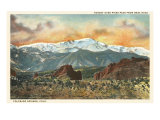 Sunset over Pike's Peak, Colorado Poster