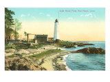 Lighthouse Point, New Haven, Connecticut Art Print