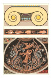Two-Part Roman Motif Decorative Arts Posters