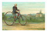 Man with Large Tricycle Posters