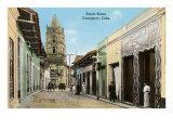 Street Scene, Camaguey, Havana, Cuba Print