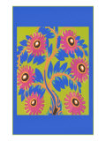 Flowers, Decorative Arts Print