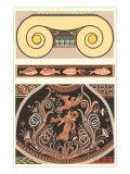 Motivi romani in due parti, arte decorativa Poster
