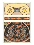 Two-Part Roman Motif Decorative Arts Poster