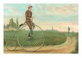 Man on Penny-Farthing Posters