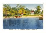 Beach, Lake Quassapaug, Waterbury, Connecticut Poster