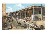 Market, Santiago de Cuba Print