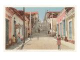Padre Pico Street, Santiago de Cuba Kunstdruck