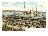 Wharf with Wagons, Havana, Cuba Posters