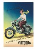 Victoria Motorcycle Advertisement Schilderij