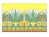 Loto egiziano, arte decorativa Poster