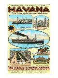 Havana by Steamship Posters