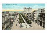 The Prado, Havana, Cuba Poster
