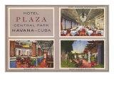 Hotel Plaza, Havana, Cuba Print