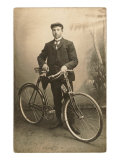 Boy with Bicycle Premium giclée print
