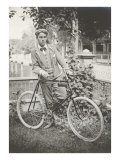 Man with Bicycle Poster