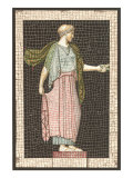 Mosaic of Woman, Decorative Arts Posters