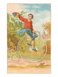 Boy on Penny-Farthing Posters