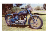 Blue Motorcycle Print