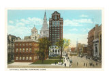 City Hall Square, Hartford, Connecticut Print