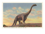 Brontosaurus, Dinosaur Park, Rapid City, South Dakota, Art Print