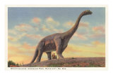 Brontosauro, Parco dei dinosauri, Rapid City, South Dakota Poster