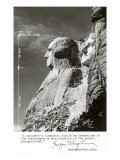 Mt. Rushmore, South Dakota with Dimensions Poster