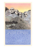 Mt. Rushmmore, South Dakota Print