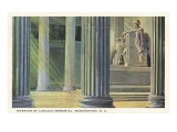 Interior, Lincoln Memorial, Washington D.C. Posters